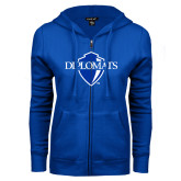 ENZA Ladies Royal Fleece Full Zip Hoodie-Diplomats Official Logo