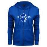 ENZA Ladies Royal Fleece Full Zip Hoodie-Diplomats Official Logo