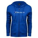 ENZA Ladies Royal Fleece Full Zip Hoodie-Diplomats Flat Logo