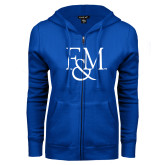 ENZA Ladies Royal Fleece Full Zip Hoodie-F&M