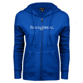 ENZA Ladies Royal Fleece Full Zip Hoodie-Franklin & Marshall