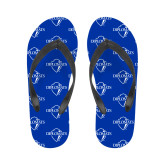 Ladies Full Color Flip Flops-Diplomats Official Logo