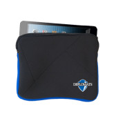 Neoprene Black w/Royal Trim Zippered Tablet Sleeve-Diplomats Official Logo