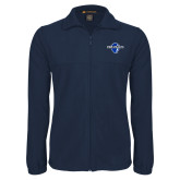 Fleece Full Zip Navy Jacket-Diplomats Official Logo