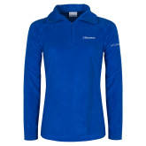 Columbia Ladies Half Zip Royal Fleece Jacket-Diplomats Flat Logo