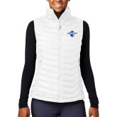 Columbia Mighty LITE Ladies White Vest-Diplomats Official Logo