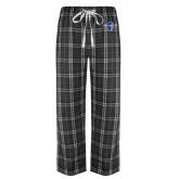 Black/Grey Flannel Pajama Pant-Diplomats Official Logo