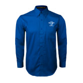 Royal Twill Button Down Long Sleeve-Basketball