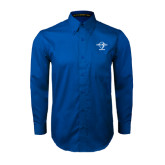 Royal Twill Button Down Long Sleeve-Swimming