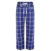 Royal/White Flannel Pajama Pant-Diplomats Official Logo
