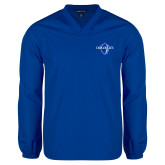 V Neck Royal Raglan Windshirt-Diplomats Official Logo