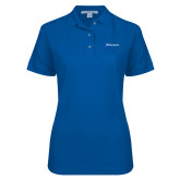 Ladies Easycare Royal Pique Polo-Diplomats Flat Logo