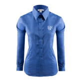 Ladies Red House French Blue Long Sleeve Shirt-F&M