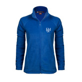 Ladies Fleece Full Zip Royal Jacket-F&M