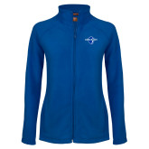 Ladies Fleece Full Zip Royal Jacket-Diplomats Official Logo
