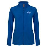 Ladies Fleece Full Zip Royal Jacket-Diplomats Official Logo
