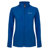 Ladies Fleece Full Zip Royal Jacket-Diplomats Flat Logo