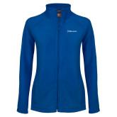 Ladies Fleece Full Zip Royal Jacket-Diplomats Flat Logo