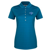 Ladies Callaway Opti Vent Sapphire Blue Polo-Diplomats Official Logo