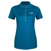 Ladies Callaway Opti Vent Sapphire Blue Polo-Diplomats Official Logo