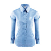 Ladies Red House Light Blue Long Sleeve Shirt-F&M