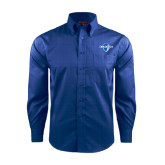Red House French Blue Long Sleeve Shirt-Diplomats Official Logo