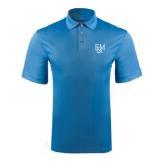 Light Blue Performance Fine Jacquard Polo-F&M