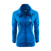 Ladies Sport Wick Stretch Full Zip Sapphire Jacket-Diplomats Official Logo