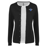 Ladies Black Cardigan-Diplomats Official Logo