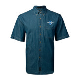 Denim Shirt Short Sleeve-Diplomats Official Logo