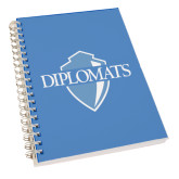 Clear 7 x 10 Spiral Journal Notebook-Diplomats Official Logo