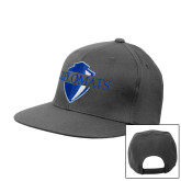 Charcoal Flat Bill Snapback Hat-Diplomats Official Logo