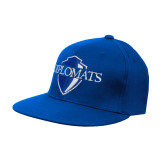 Royal OttoFlex Flat Bill Pro Style Hat-Diplomats Official Logo