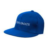 Royal OttoFlex Flat Bill Pro Style Hat-Diplomats Flat Logo