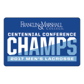 Large Magnet-2017 Centennial Conference Champions Mens Lacrosse