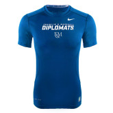 Franklin NIKE Royal Pro Combat Fitted Tee-