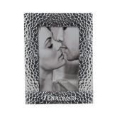 Silver Textured 4 x 6 Photo Frame-Diplomats Flat Logo Engraved