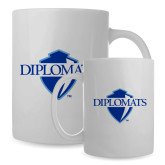 Full Color White Mug 15oz-Diplomats Official Logo