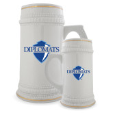 Full Color Decorative Ceramic Mug 22oz-Diplomats Official Logo