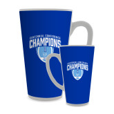Full Color Latte Mug 17oz-2017 Football Champions Stacked w/ Football Vertical
