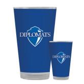 Full Color Glass 17oz-Diplomats Official Logo