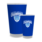 Full Color Glass 17oz-2017 Football Champions Stacked w/ Football Vertical