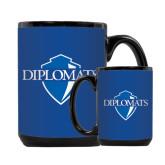Full Color Black Mug 15oz-Diplomats Official Logo
