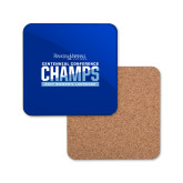 Hardboard Coaster w/Cork Backing-2017 Centennial Conference Champions Womens Lacrosse