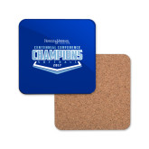 Hardboard Coaster w/Cork Backing-2017 Centennial Conference Champions Softball
