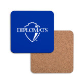 Hardboard Coaster w/Cork Backing-Diplomats Official Logo