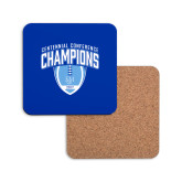 Hardboard Coaster w/Cork Backing-2017 Football Champions Stacked w/ Football Vertical