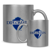 11oz Silver Metallic Ceramic Mug-Diplomats Official Logo