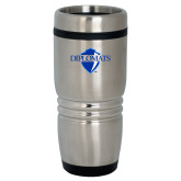 Rolling Ridges Silver Stainless Tumbler-Diplomats Official Logo