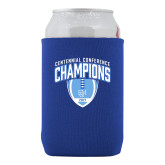 Neoprene Royal Can Holder-2017 Football Champions Stacked w/ Football Vertical